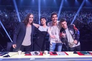 I giudici di X Factor (foto Ansa)