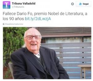 """""""Dario Fo morto"""", gaffe giornale spagnolo: la foto è di Andrea Camilleri"""
