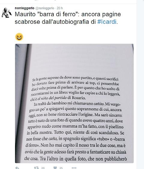 """Icardi, nella biografia racconta: """"Mi chiamavano 'tubo' o 'barra di ferro' perché..."""" 01"""