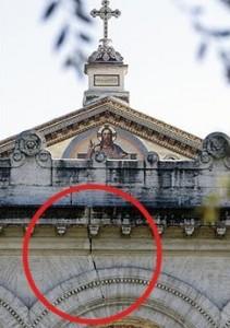 Le crepe sulla Basilica di San Paolo