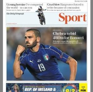 Calciomercato Juventus, Bonucci verso il Chelsea a gennaio: offerta da 68 milioni