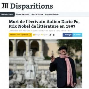 """Dario Fo, Grillo: """"Sarai sempre con noi22"""