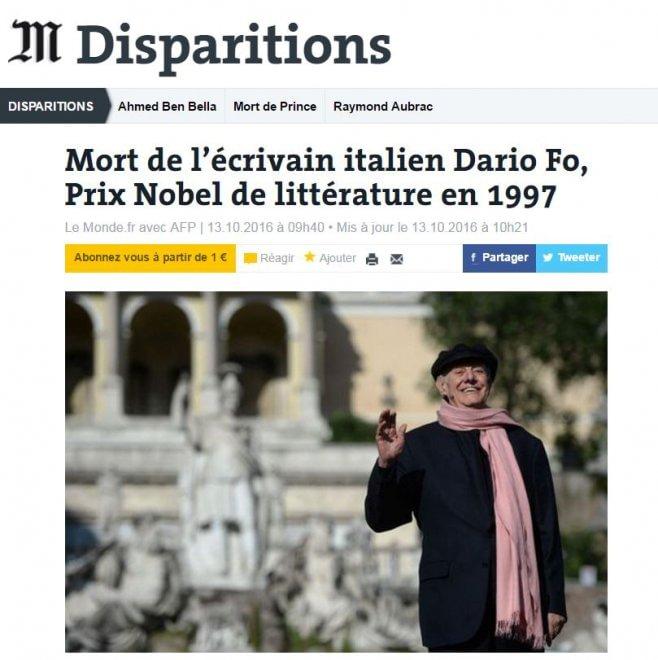 Addio Fo, il suo legame con Parma