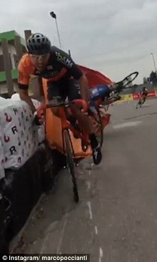 Jeremy Santucci, scatto d'ira durante gara5