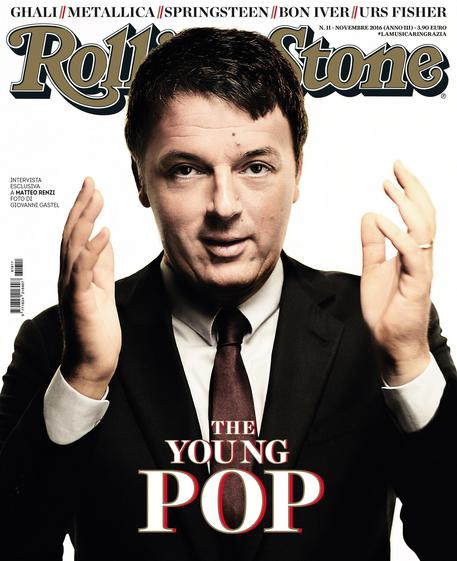 Matteo Renzi su Rolling Stone The Young pop