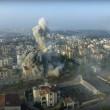 Missile che colpisce Aleppo ripreso dal drone 2