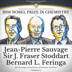 Premio Nobel per la Chimica 2016 a Sauvage, Fraser Stoddart e Feringa per nanomacchine
