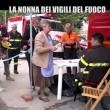 Nonna bolognese con Le Iene porta tortellini a pompieri Amatrice