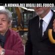 Nonna bolognese con Le Iene porta tortellini a pompieri Amatrice0