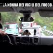 Nonna bolognese con Le Iene porta tortellini a pompieri Amatrice9