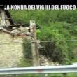 Nonna bolognese con Le Iene porta tortellini a pompieri Amatrice5