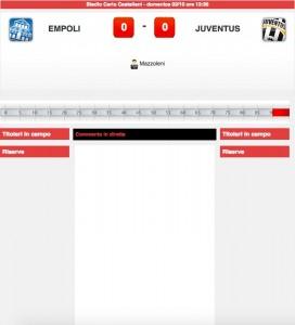 Empoli-Juventus diretta live. Formazioni ufficiali dopo le 12