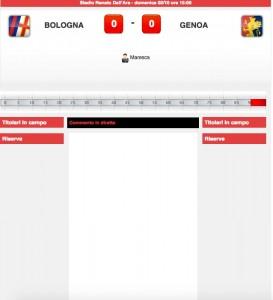 Bologna-Genoa diretta live. Formazioni ufficiali dopo le ore 14