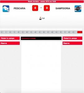 Pescara-Sampdoria, diretta live su Blitz