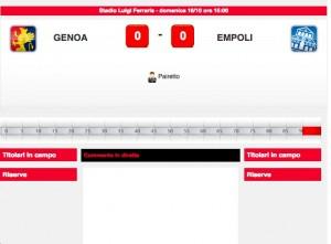 Genoa-Empoli diretta live