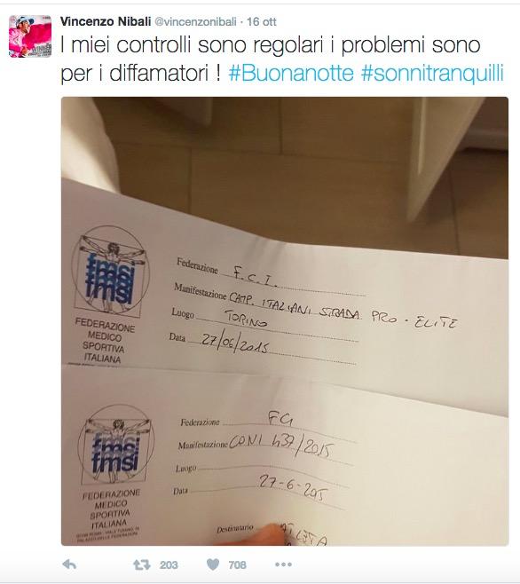 """Vincenzo Nibali querela Francesco Reda e Le Iene: """"Guai sono per diffamatori"""""""
