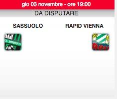Rapid Vienna-Sassuolo diretta live. Formazioni ufficiali dopo le ore 20