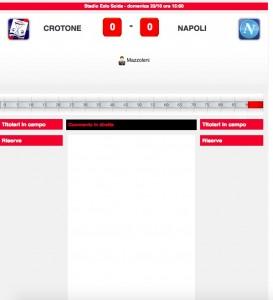 Crotone-Napoli diretta live. Formazioni ufficiali dopo le 14