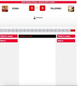 Roma-Palermo diretta live. Formazioni ufficiali dalle 20
