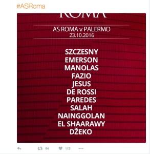 Guarda la versione ingrandita di Roma - Palermo, il Twitter della Roma