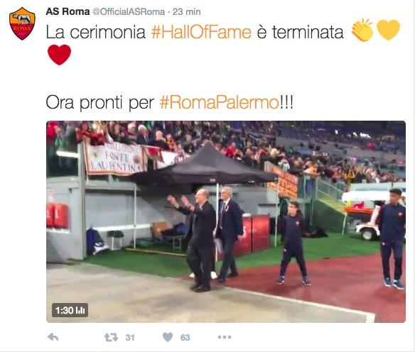 Roma - Palermo, il Twitter della Roma