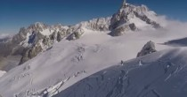 Scia fuoripista sul Monte <br /> Bianco e provoca valanga