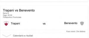 Trapani-Benevento streaming - diretta tv, dove vederla