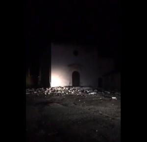 VIDEO Terremoto a Norcia: danneggiata Chiesa S. Maria delle Grazie
