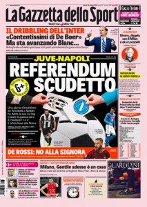"Juventus-Napoli pronostico: ""1"" o ""X"". Roma terzo incomodo"