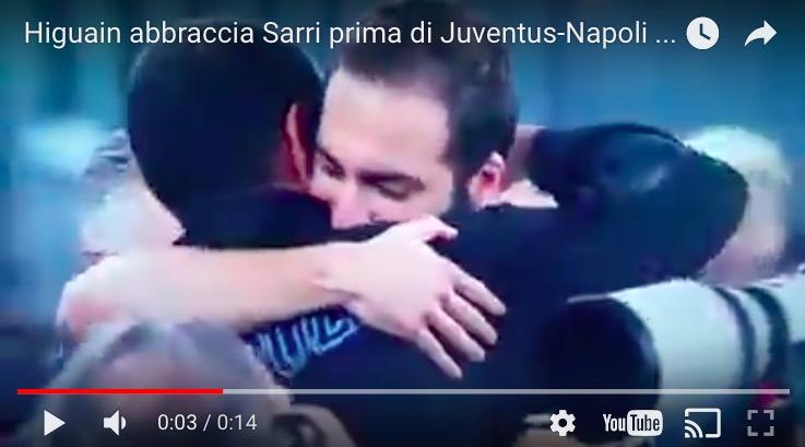 Gonzalo Higuain - Maurizio Sarri VIDEO: ecco cosa è successo prima di Juventus-Napoli