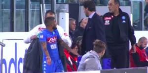 VIDEO, Lorenzo Insigne-Maurizio Sarri: litigio al momento del cambio