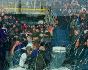 Atalanta-Genoa: lanciate 4 bombe carta prima della partita