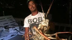 Uragano porta aragosta mostro da 6 chili nelle Bermuda