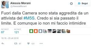 """Alessia Morani (Pd) su Twitter: """"Attivista M5s mi ha aggredita fuori dalla Camera"""""""
