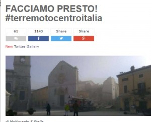 """Beppe Grillo a Renzi: """"Collaboriamo per il terremoto, Ue stia zitta sul debito"""""""