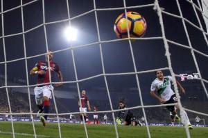 Guarda la versione ingrandita di Bologna - Sassuolo 1-1 (foto Ansa)