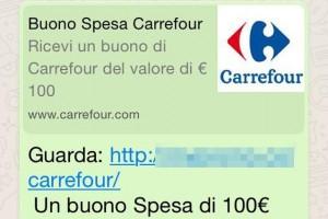 Buono spesa Carrefour via WhatsApp? Attenti, è una truffa