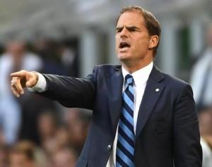 """Inter, Frank De Boer soddisfatto: """"Oggi contava solo vincere"""""""