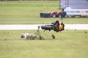 Marc Marquez, caduta nel Gp di Australia FOTO