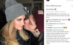 Fedez e Chiara Ferragni, FOTO primo bacio ufficiale su Instagram