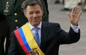Guarda la versione ingrandita di Premio Nobel per la Pace al presidente della Colombia Santos