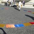 Colombia flash mob piazza del Popolo