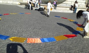 Guarda la versione ingrandita di Colombia, flash mob per la pace a Roma VIDEO-FOTO