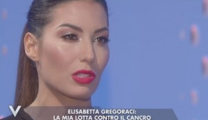 Elisabetta Gregoraci in lacrime a Verissimo
