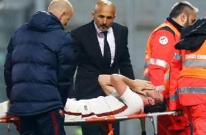 Alessandro Florenzi, rottura del crociato del ginocchio. Bollettino medico