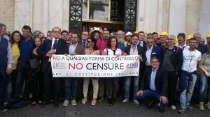 Fnsi, presidio davanti alla Procura di Salerno per la libertà di stampa
