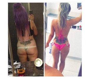 Holly Hagan, prima e dopo