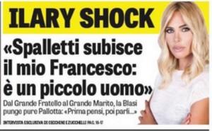 """Ilary Blasi: """"Intervista contro Spalletti? Totti non sapeva niente"""""""