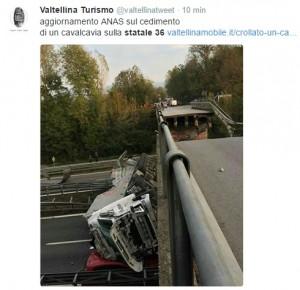 Milano-Lecco: crolla cavalcavia sulla statale 36, diversi feriti