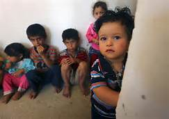 Bambini a Mosul